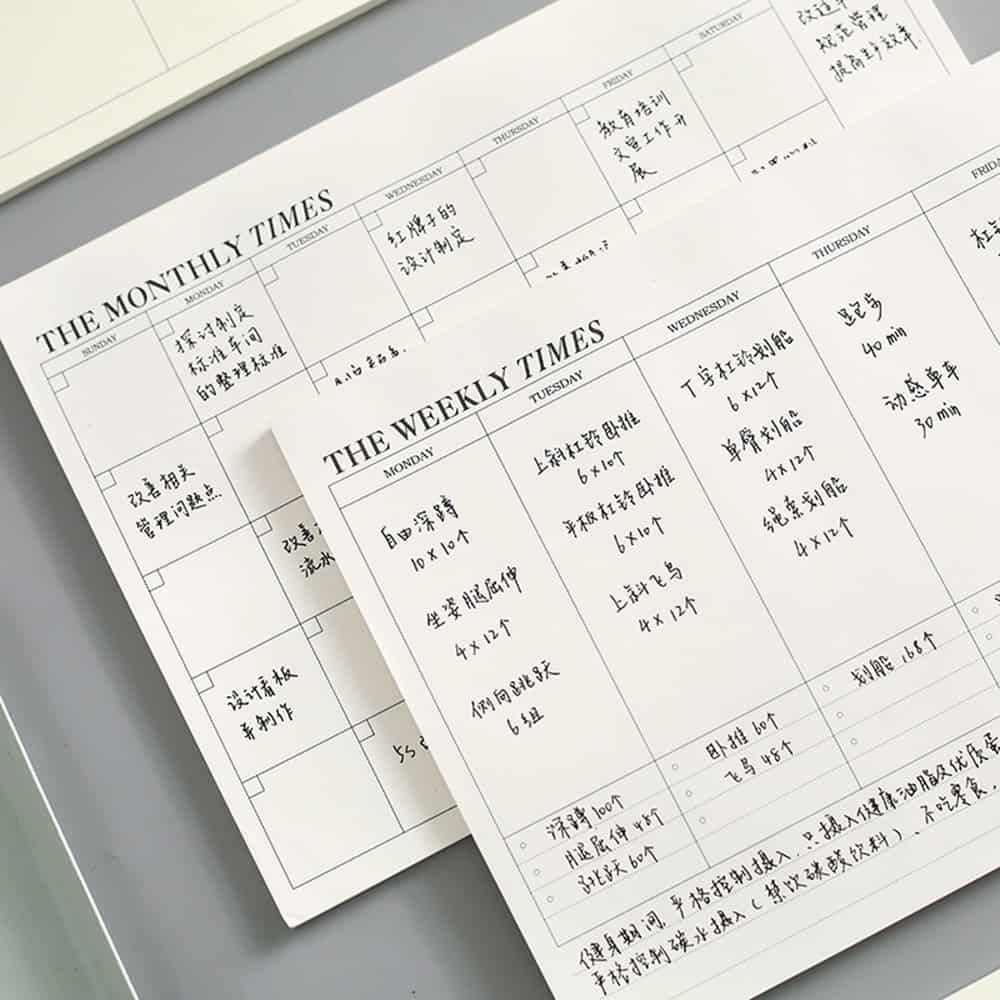 Office Notebook Planner with Months and Week Feature